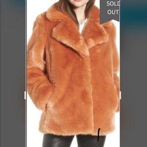 Avec Les Filles faux fur flamingo coat size xl